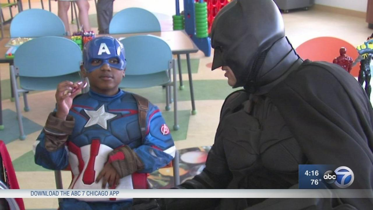 Superhero Week invades Lurie Childrens Hospital