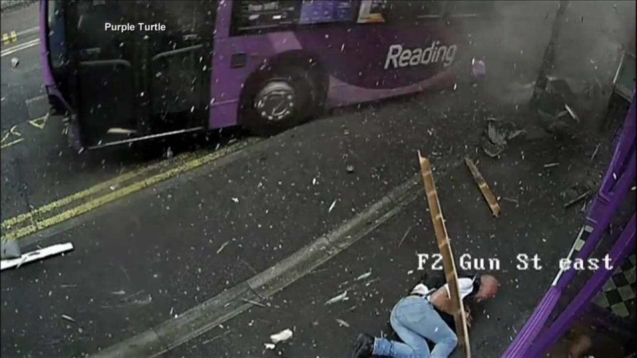 Man hit by bus, gets up, walks into bar