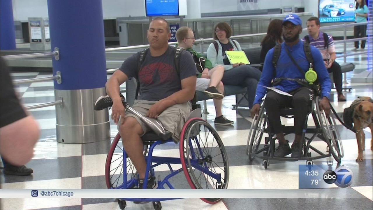 Athletes arrive in Chicago head of Warrior Games
