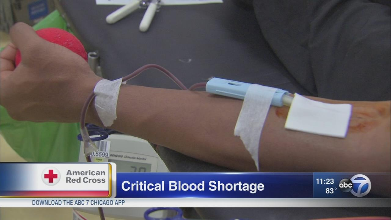 Red Cross facing blood shortage after lack of donations