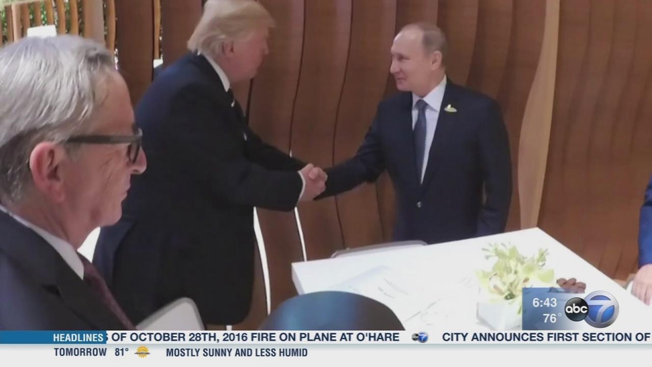 Trump, Putin meet in Germany