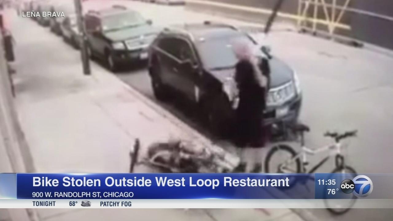 Bike theft caught on camera