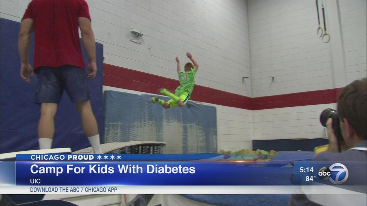 UIC gymnastics hosts diabetes camp
