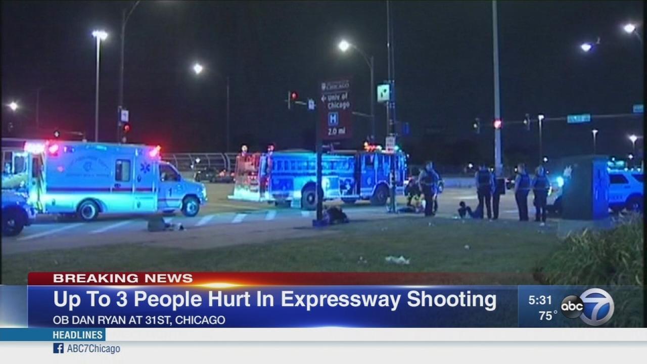 3 injured in shootout on Dan Ryan