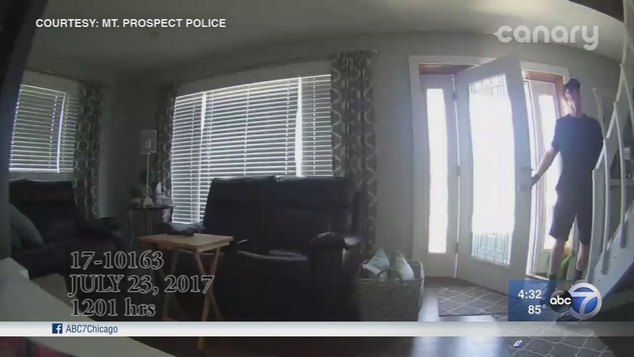 VIDEO: Man breaks into Mount Prospect home