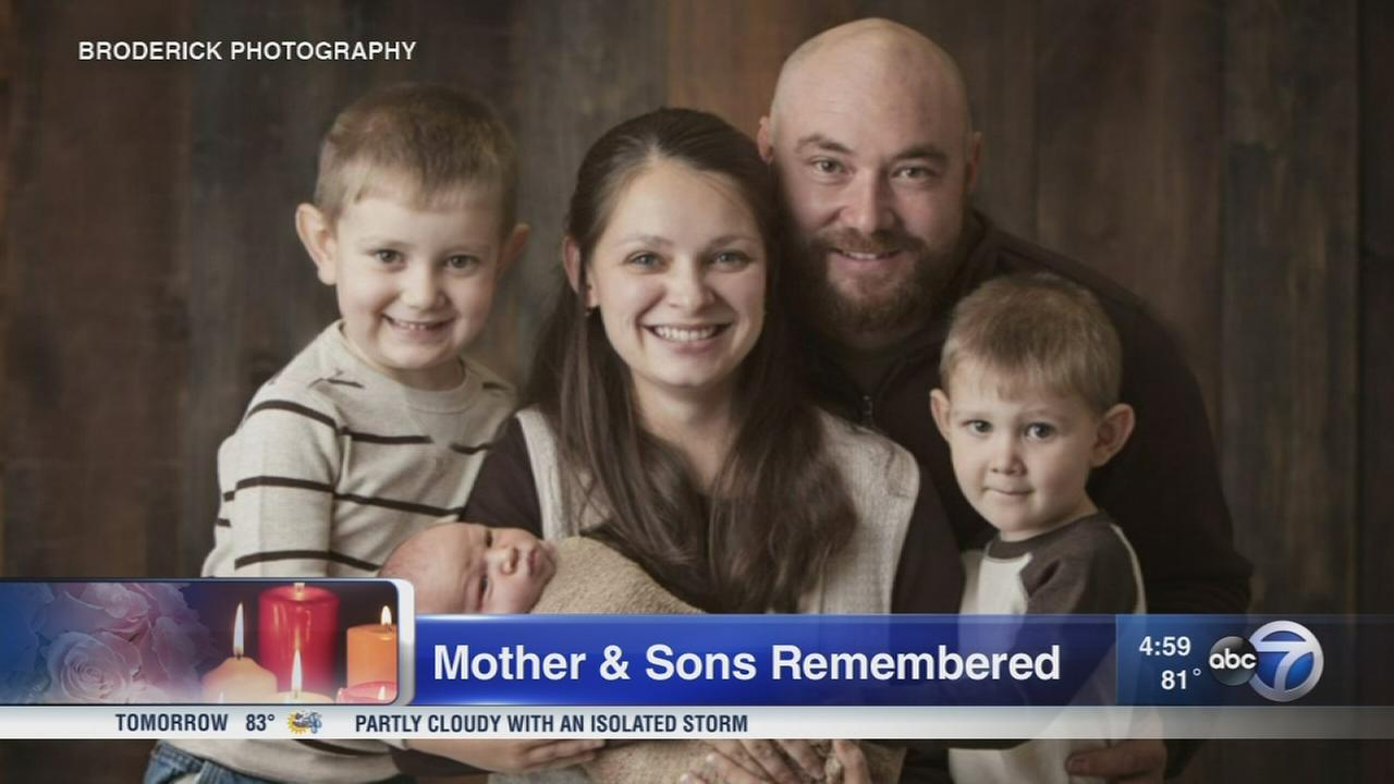 Visitation held for mother, 3 sons killed in crash