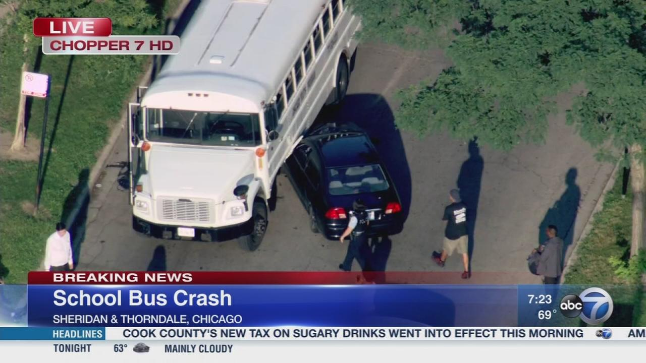 Bus carrying children involved in Edgewater crash