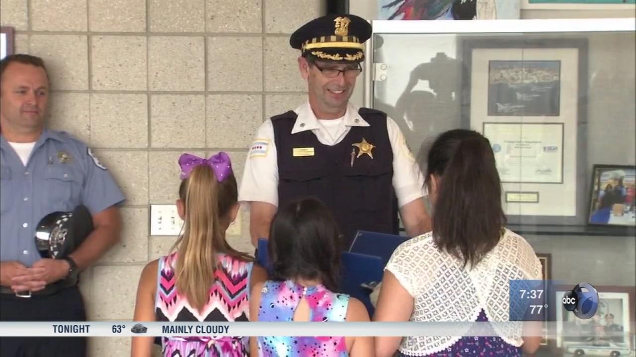 3 girls honored for helping nab burglars