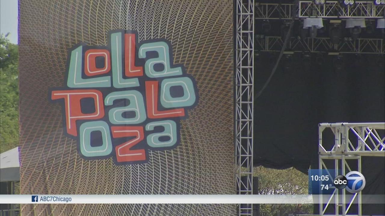 Finishing touches put on Lollapalooza before opening day
