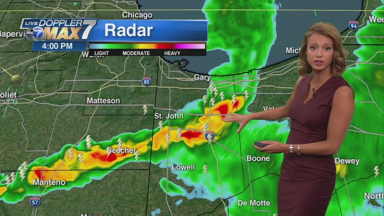 Heavy downpours, lightning expected Thursday afternoon