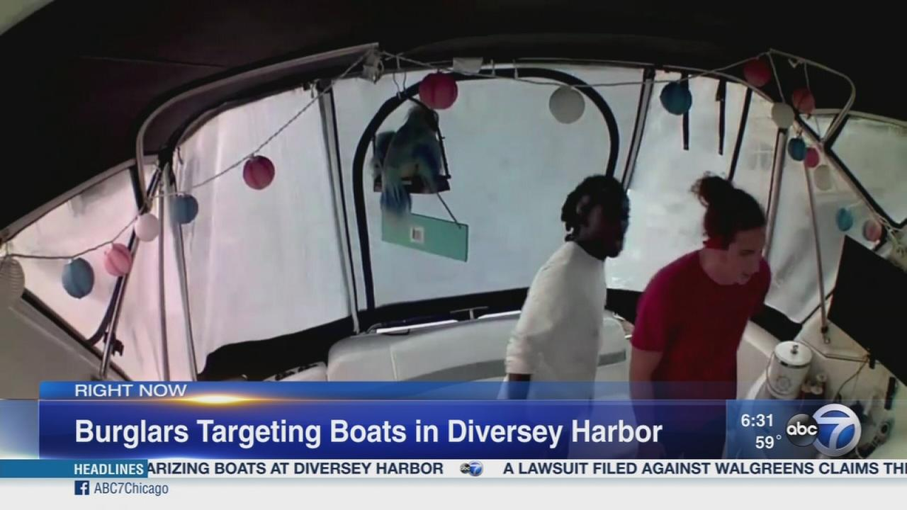 Burglars break into boats at Diversey Harbor