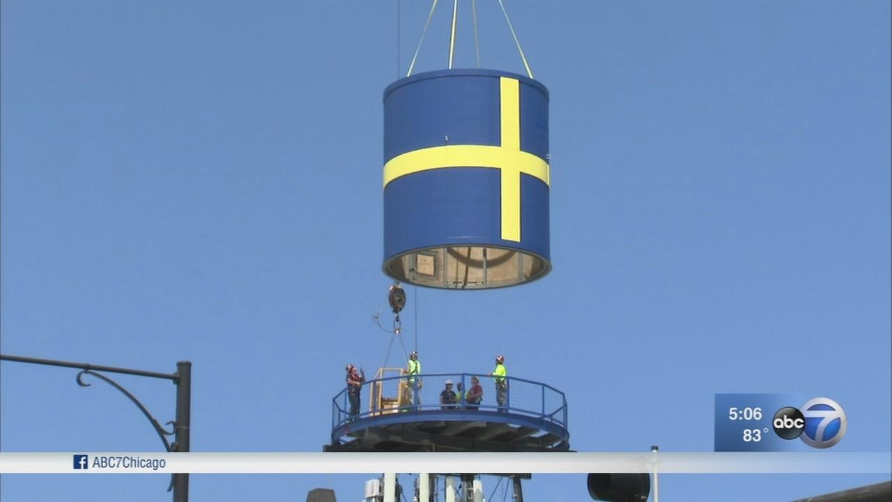 Swedish water tower returns in Andersonville