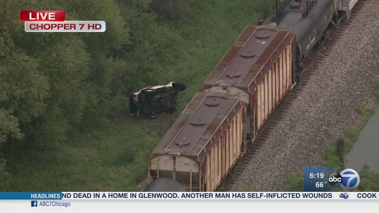 Freight train strikes Jeep in Dyer