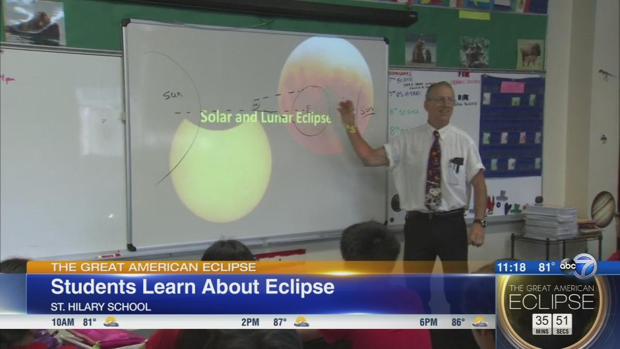 Schools use eclipse as teaching moment