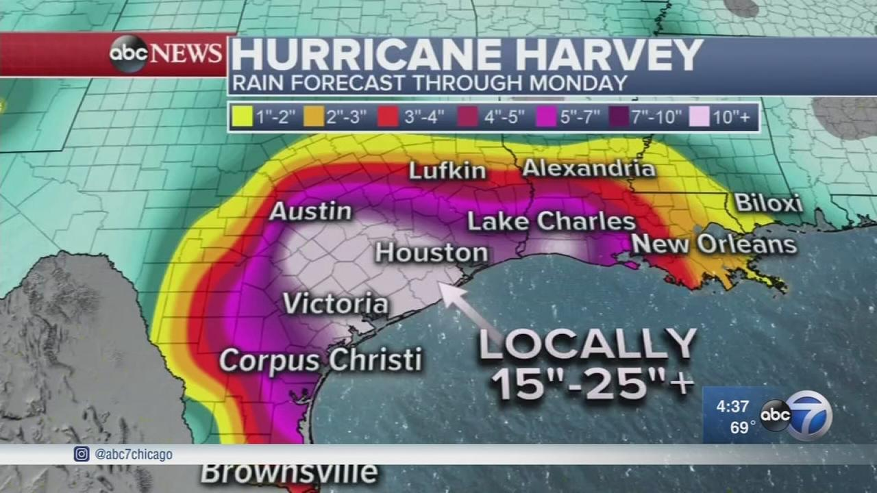 Hurricane Harvey upgraded from tropical storm, Houston braces for arrival