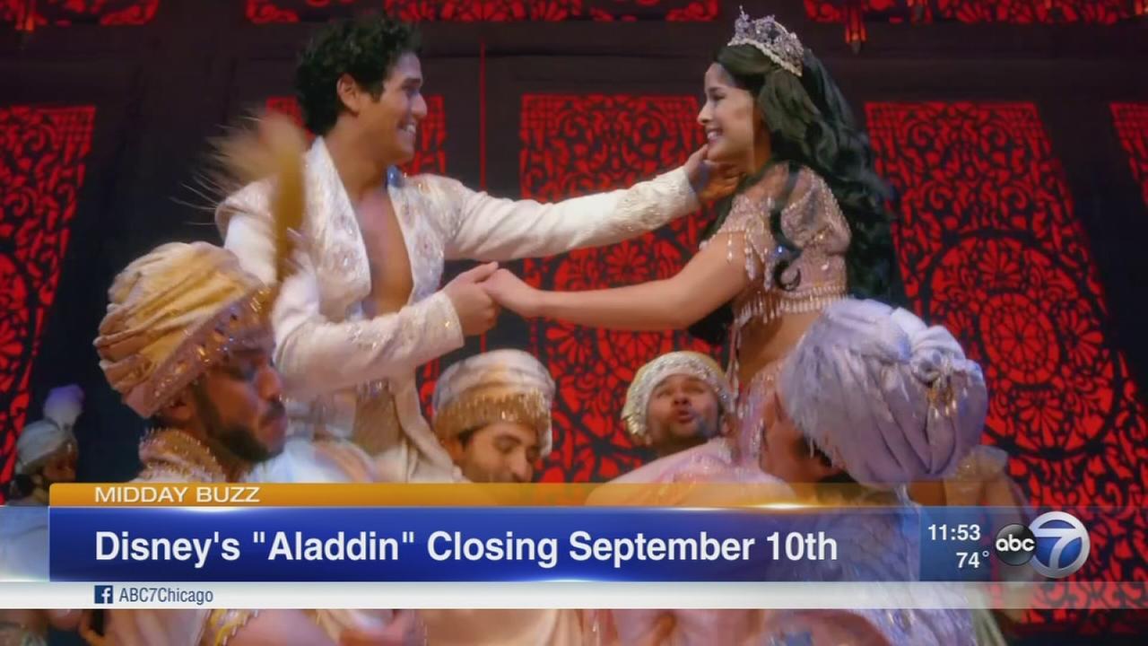 Aladdin musical in Chicago runs until Sept. 10