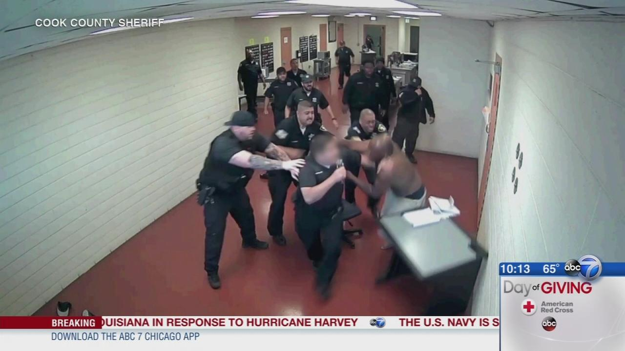 Inmate caught on video assaulting officers