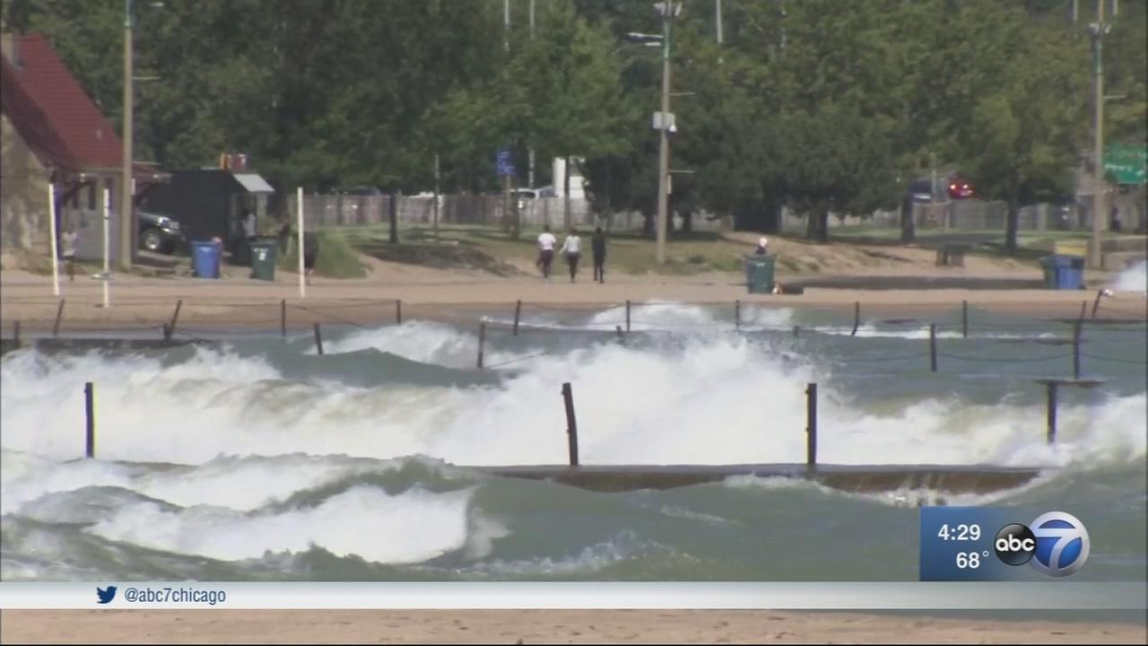 High waves, strong rip currents cause swim bans, beach hazards