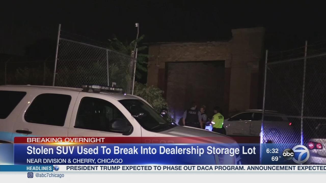 Stolen SUV used to break into Mercedes lot on Goose Island