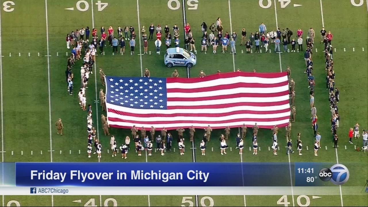 Friday Flyover in Michigan City
