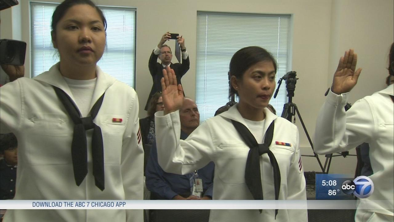 CPD officer, member of U.S. Navy take citizenship oath