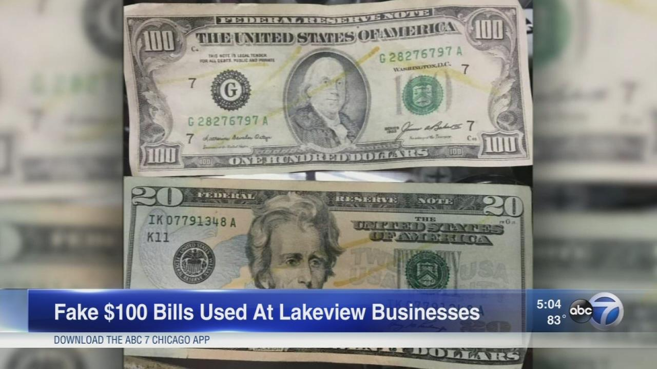 Fake $100 bills found in Lakeview