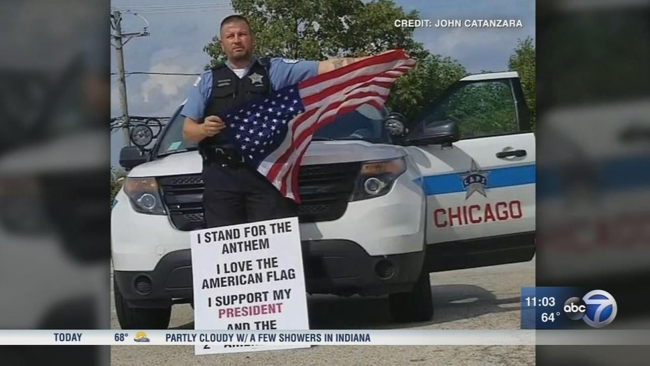 CPD officer flag