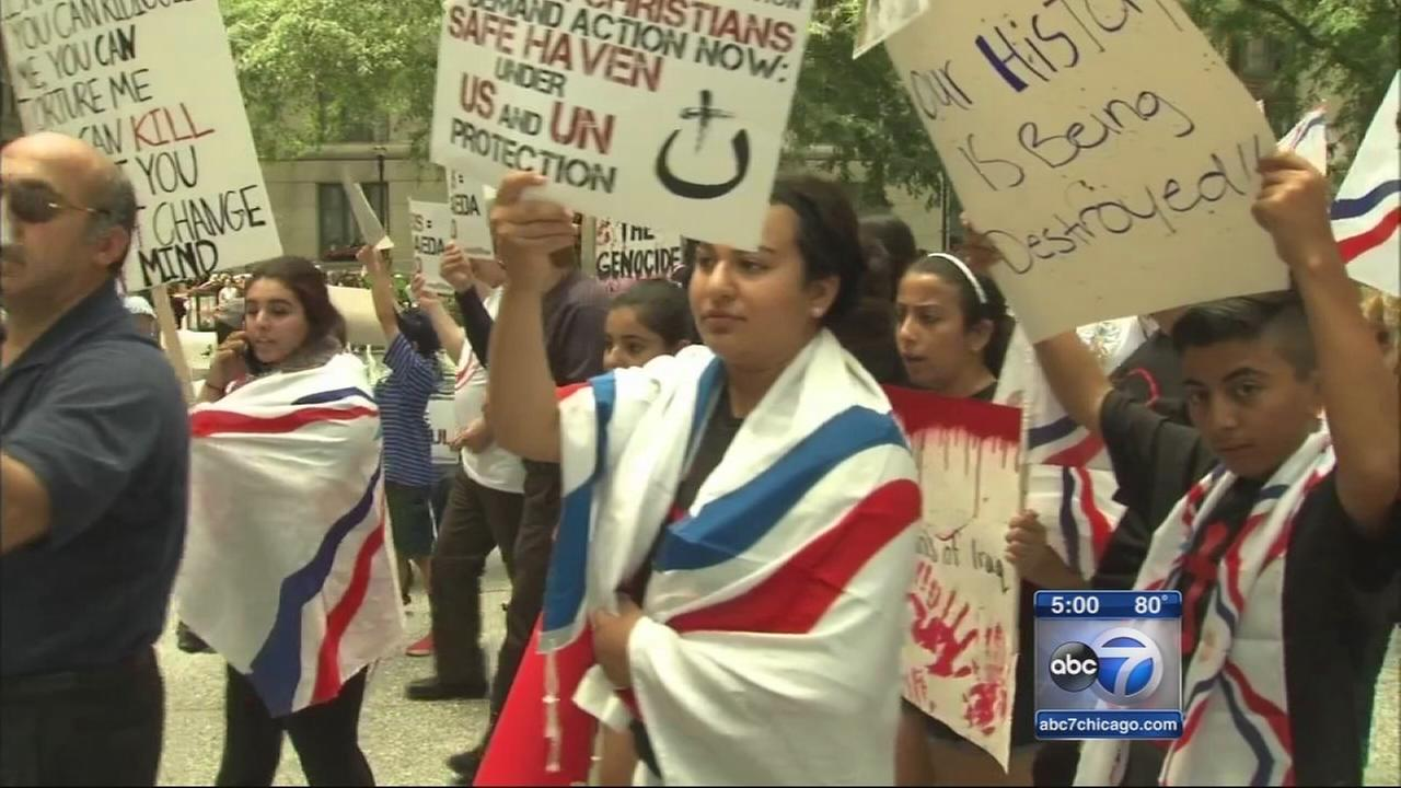 Two rallies about Iraq converge on Federal Plaza