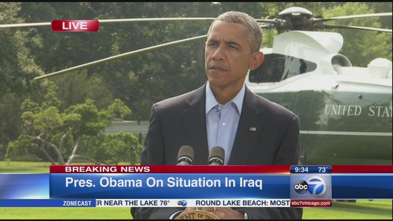 President Obama speaks about situation in Iraq