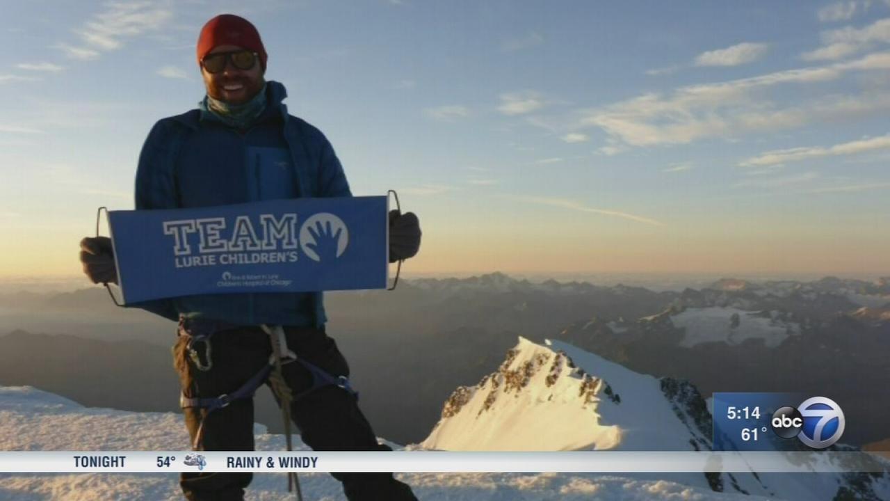Brain tumor survivor climbs mountains to raise money for Lurie