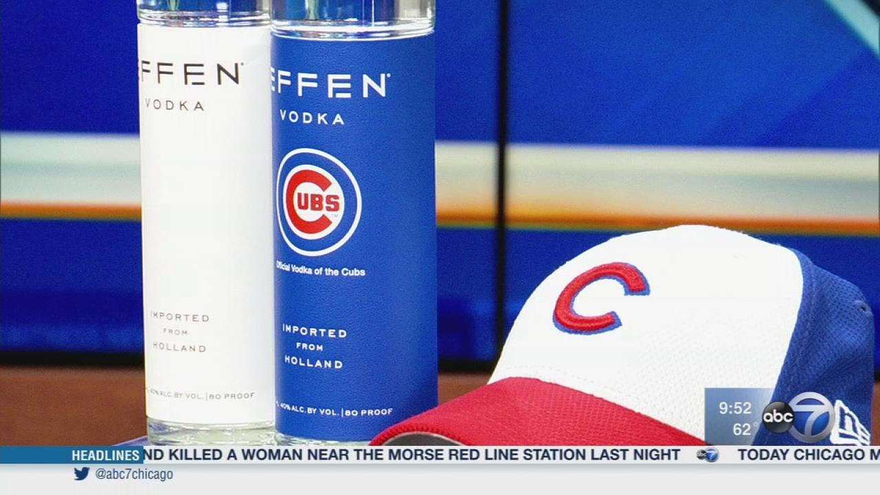 Toasting the Cubs with their official vodka