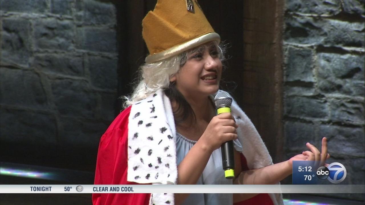 Students perform historical rap for ?Hamilton? cast