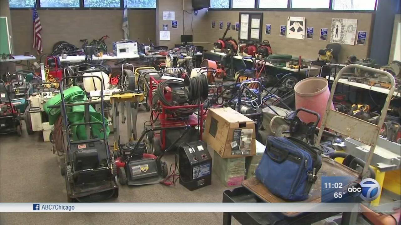 Hundreds of stolen items found in Maywood home