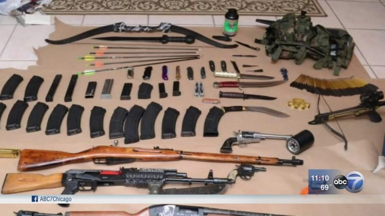 Authorities find arsenal of weapons during child porn investigation in Florida