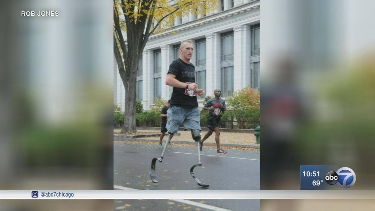Veteran, double amputee running multiple marathons