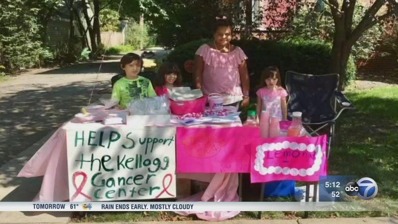 Evanston girl raises money for breast cancer after mother?s diagnosis