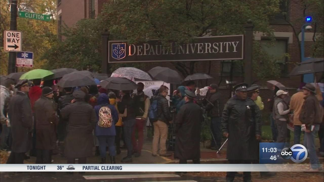 DePaul security guards hold on-day strike