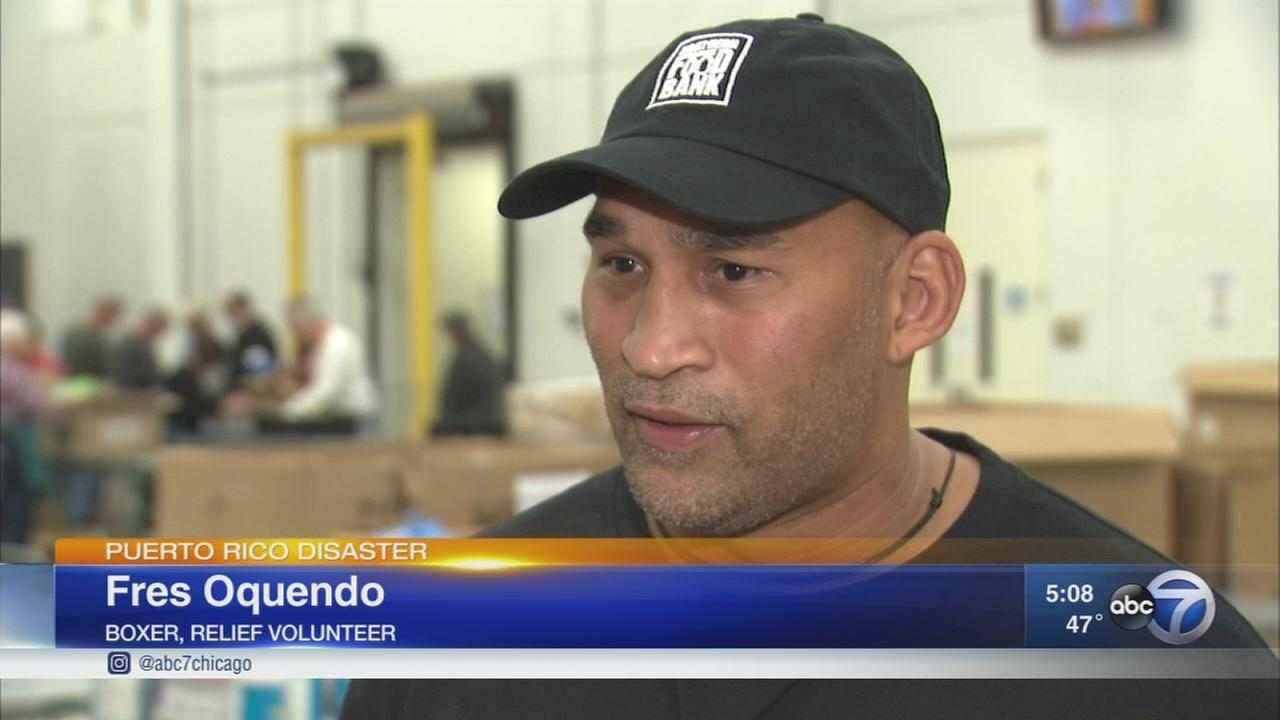 Chicago boxer helps with Puerto Rico relief efforts