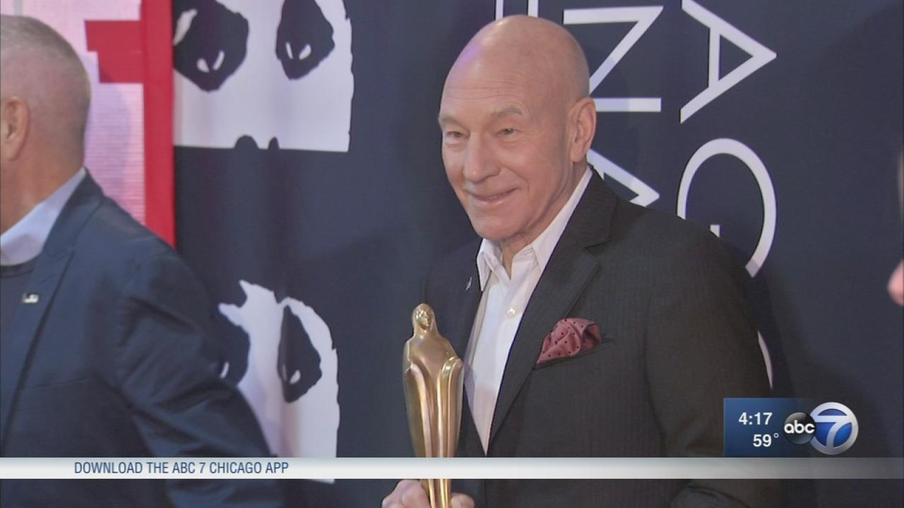 Patrick Stewart honored at Chicago Film Festival