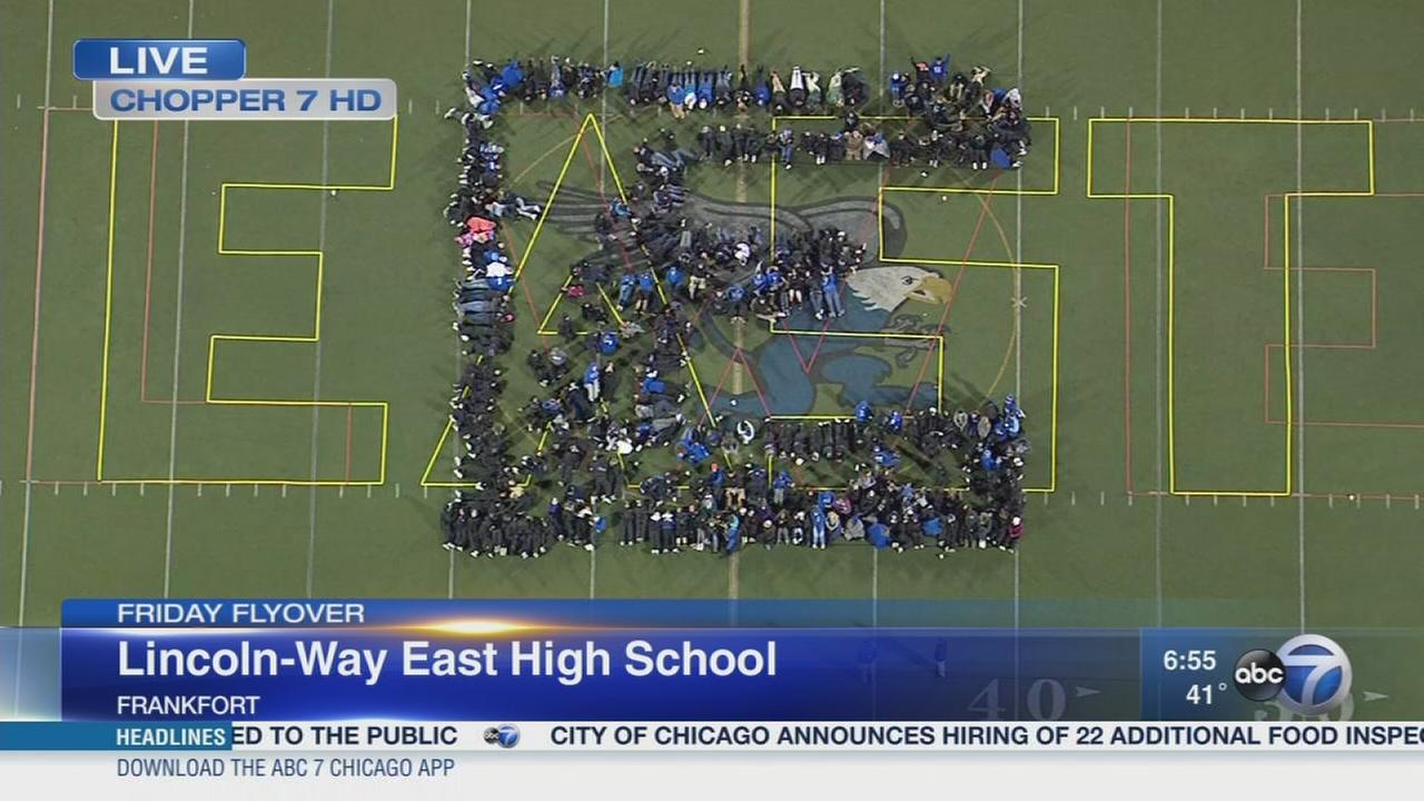 Friday Flyover Lincoln-Way East High School