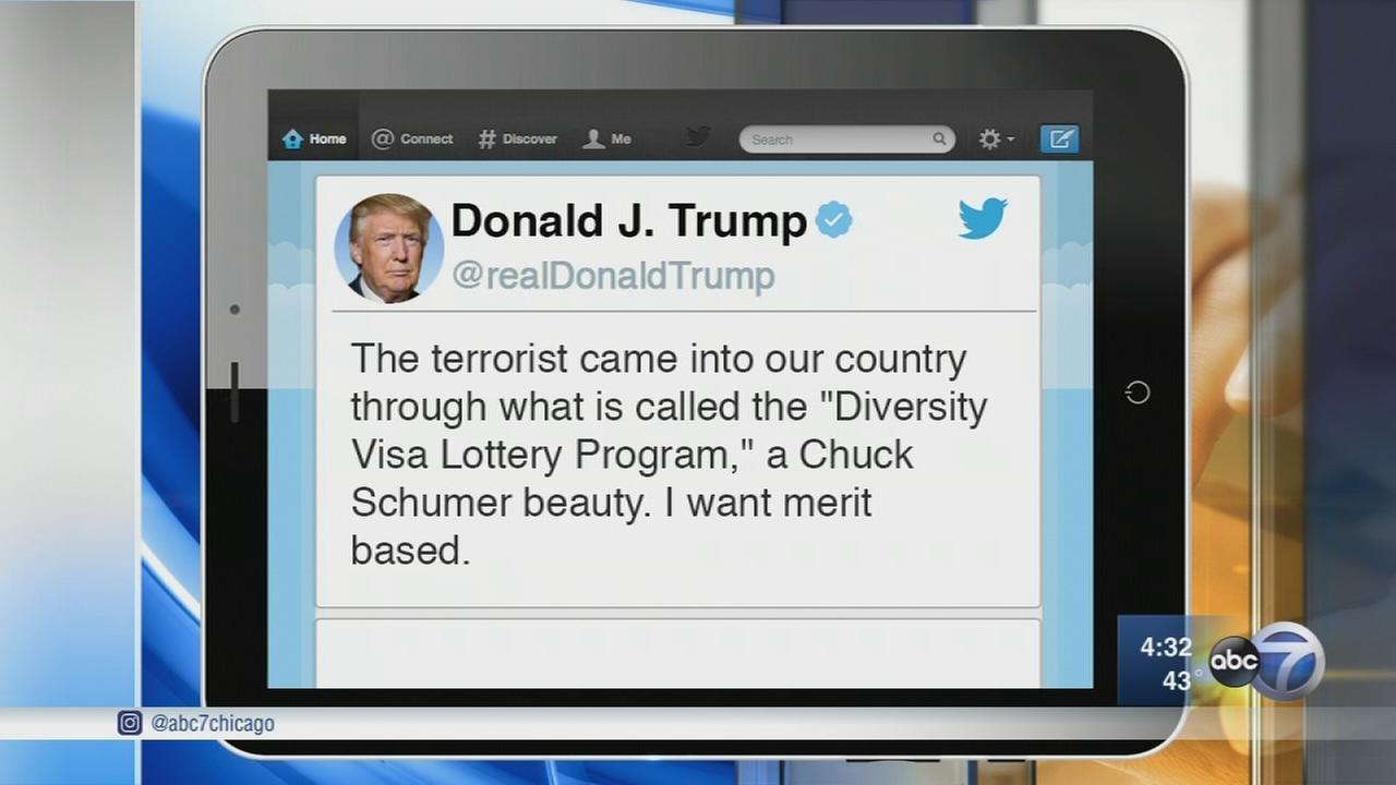 Trump calls for merit-based immigration following NYC attack