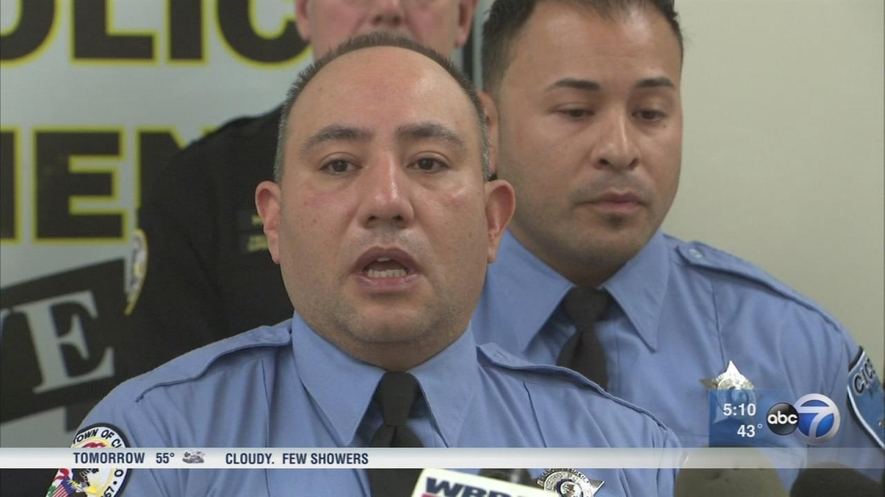 Cicero police rescue family from fire