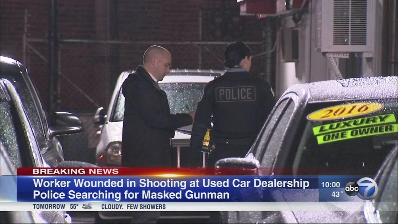 Man shot outside Brighton Park car dealership