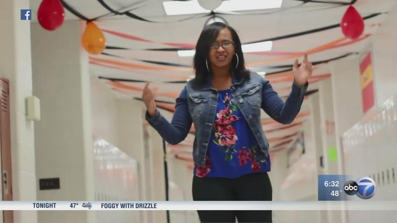 Rapping math teacher creates viral video