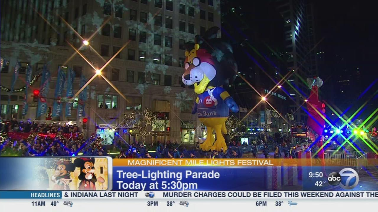 Disney Channel Star Visits Magnificent Mile Lights Festival