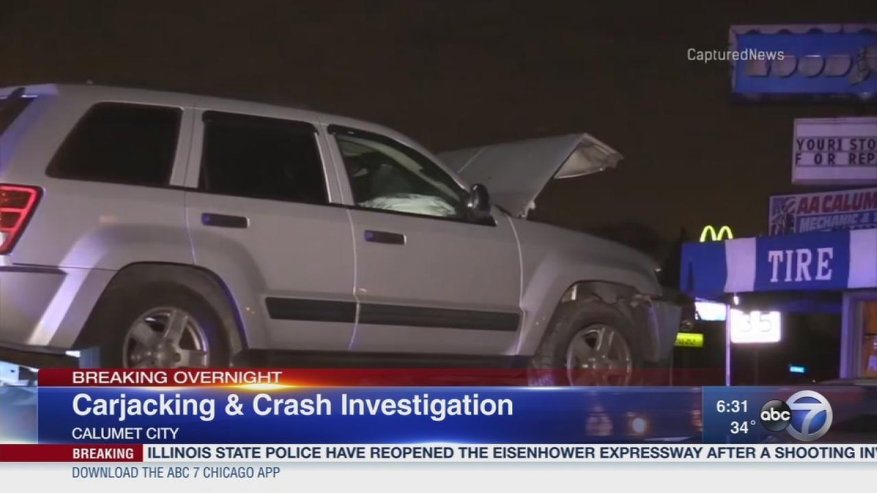 Dolton carjacking and crash