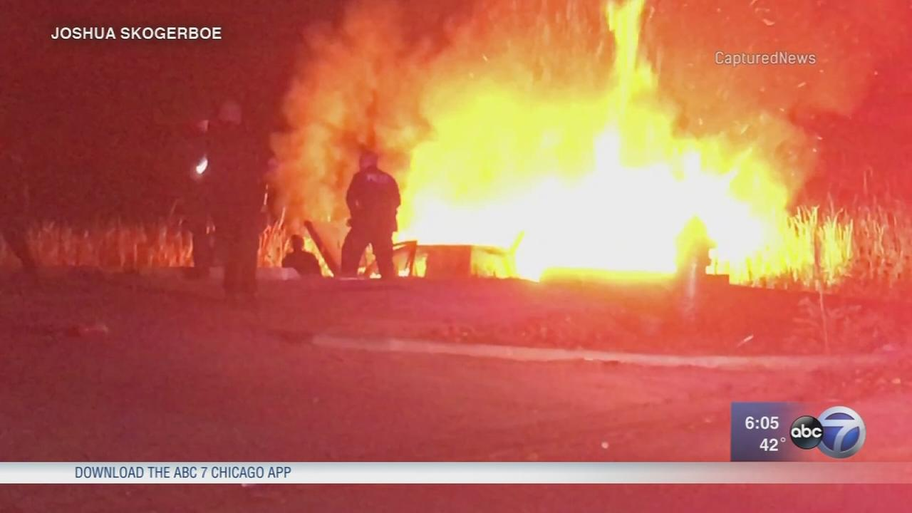 Man, 71, injured in fiery hit-and-run in Montgomery