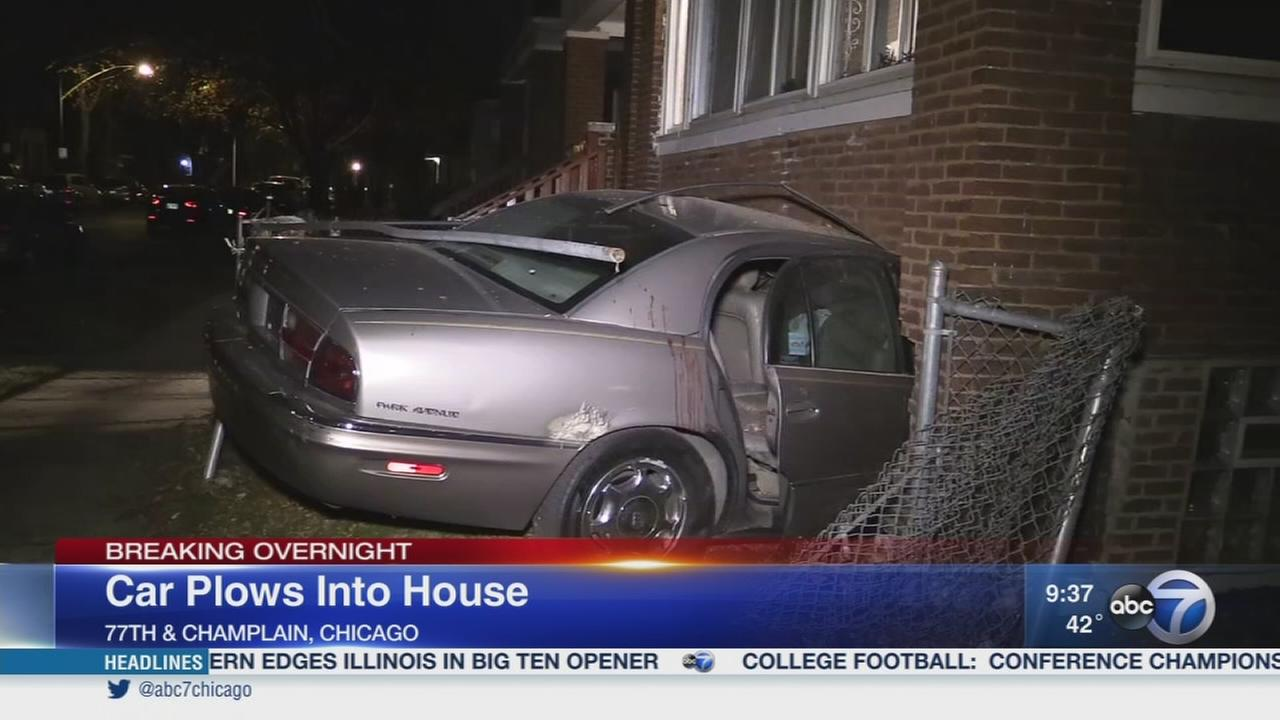 Police: 4 fled after car crashed into Chatham home