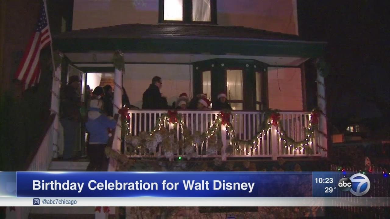 Walt Disneys Chicago neighborhood celebrates his 116th birthday