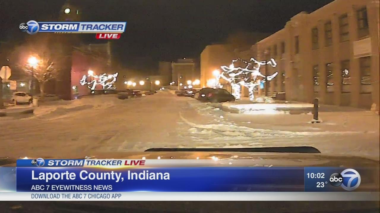 Heavy snow hits LaPorte County in Indiana